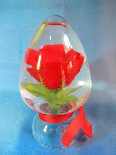 el arcon flor rosa dentro de un frasco ideal regalo 555