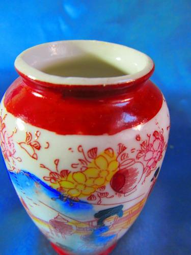 el arcon florero miniatura de porcelana satzuma japan 2008