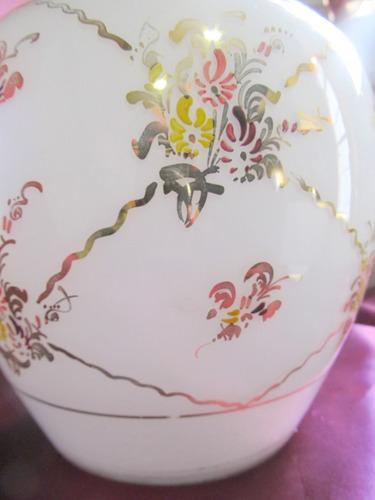 el arcon florero vintage de cristal blanco 21 cm x 20 cm 202