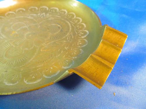 el arcon gran cenicero de bronce trabajado 20cm 53505