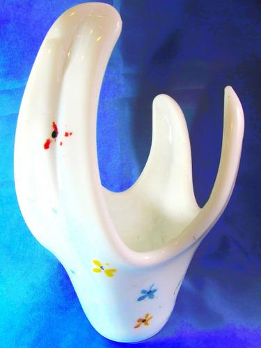 el arcon gran centro de mesa murano blanco 34cm x 24cm 400