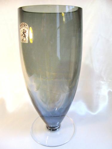 el arcon gran florero en cristal fume cristal santa fe 702