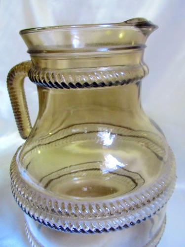 el arcon gran jarra servir vidrio prensado art deco 22cm 403