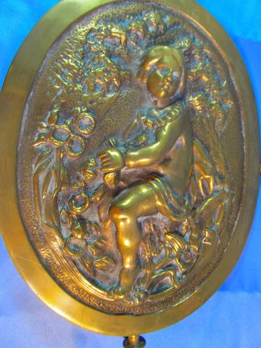 el arcon gran placa de bronce muy pesada 44cm 46059