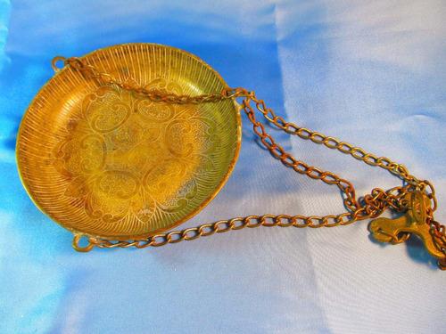 el arcon gran plato de balanza portamacetas de bronce 45054