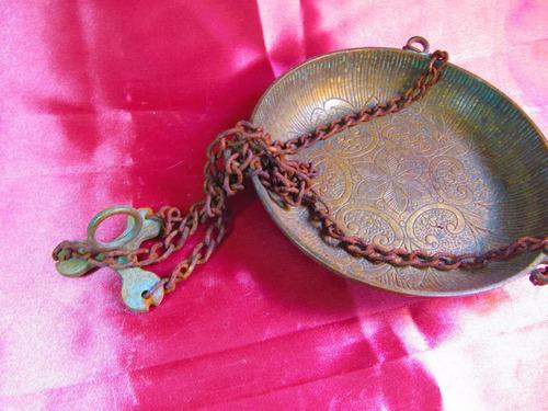 el arcon gran plato para maceta balanza de bronce 65506