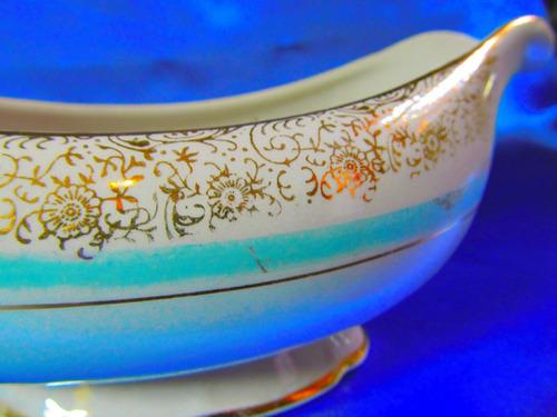 el arcon hermosa salsera de porcelana sajonia 22cm    12100