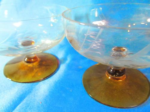 el arcon hermoso par de copas de cristal para champagne 026
