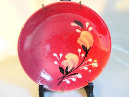 el arcon hermoso plato de ceramica decorado a mano 8007