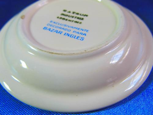 el arcon hermoso plato de porcelana bazar ingles 8,5cm 9014