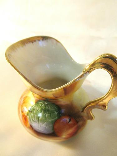 el arcon jarra de porcelana policromada  asa dorada 18026