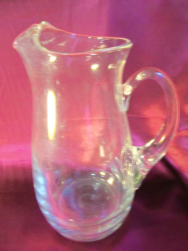 el arcon jarra de vidrio con asa y pico vertedor 25cm 12012
