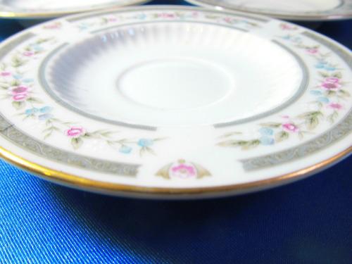 el arcon juego de 2 platos de cafe porcelana tsuji 11062