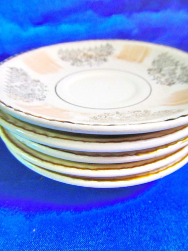 el arcon juego de 5 platos cafe porcelana boulogne  23105