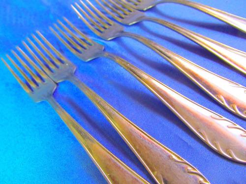 el arcon juego de 6 tenedores de mesa acero johnson  27051