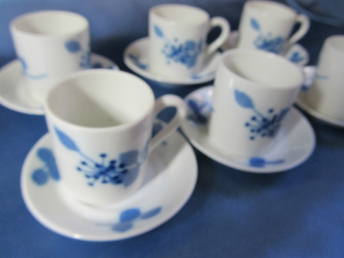 el arcon juego de cafe de porcelana verbano 6 piezas  7106