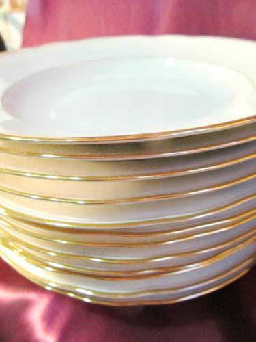 el arcon juego de seis platos hondos bavaria germany 24cm