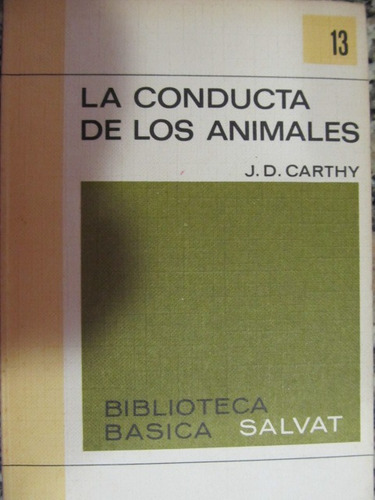el arcon la conducta de los animales j. d. carthy