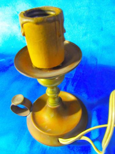 el arcon lampara de mesa de bronce de una luz 16cm 19058