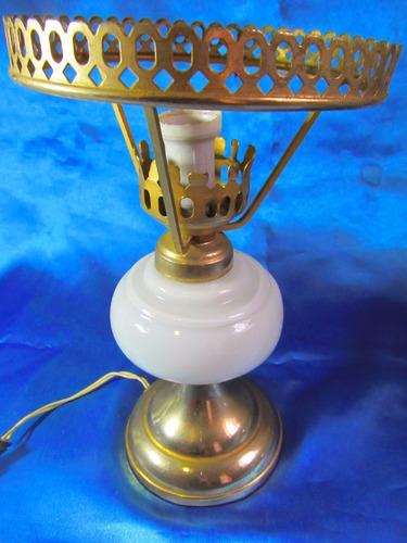 el arcon lampara de mesa velador con tulipa cristal 13060