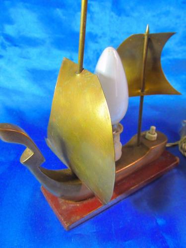 el arcon lampara velador de bronce motivo barco 13059