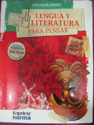 el arcon lengua y literatura para pensar 3ro sec.