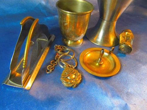 el arcon lote 6 piezas metal servilletero salero etc 35069