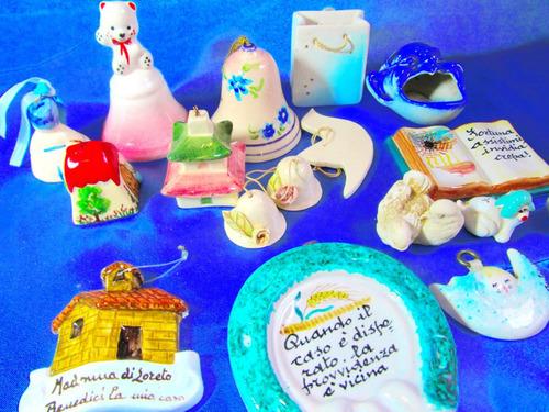 el arcon lote de 15 adornos porcelana campana colgantes 6023