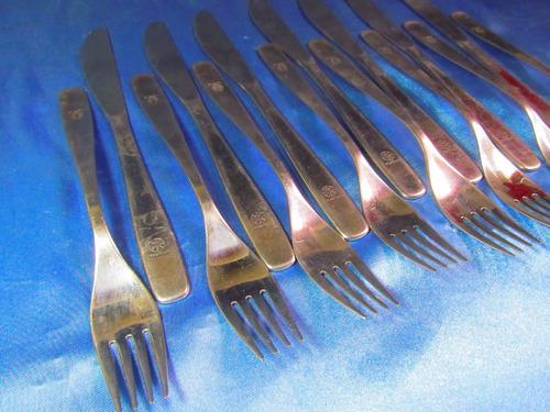 el arcon lote de 15 cuchillos tenedores varios brasil 30063