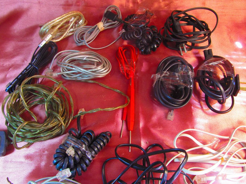 el arcon lote de 16 cables varios  24503