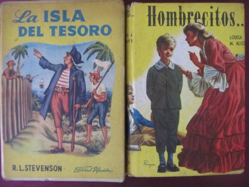 el arcon lote de 2 libros - stevenson - louisa m. alco