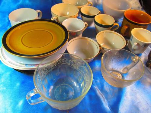 el arcon lote de 22 tazas y platos varios de porcelana 38102