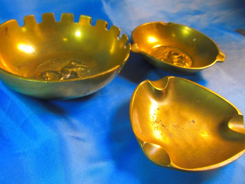 el arcon lote de 3 ceniceros de bronce motivo caballo 53506