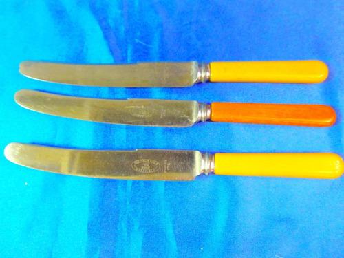 el arcon lote de 3 cuchillos atkinson bros sheffield  28079