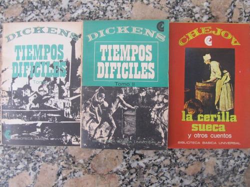el arcon lote de 3 libros - dickens - chejov
