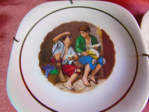 el arcon lote de 3 platos deco de porcelana festival 53500