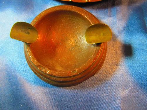 el arcon lote de 3 platos y cenicero de cobre todo 33066