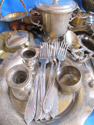 el arcon lote de 3 platos y portatazas de metal  28077