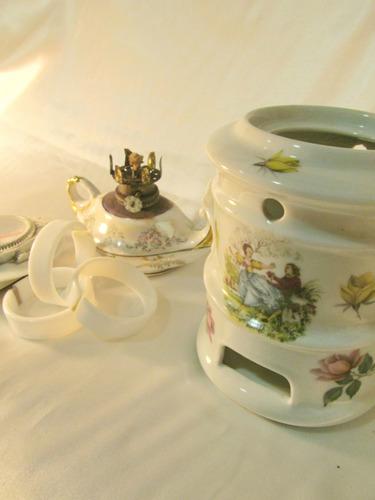 el arcon lote de 4 adornos porcelana, anillos y reloj 18022