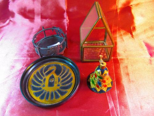 el arcon lote de 4 articulos campana portavela plato 18082