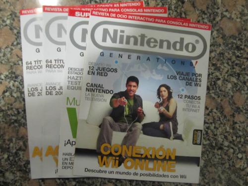 el arcon lote de 4 revistas nintendo.