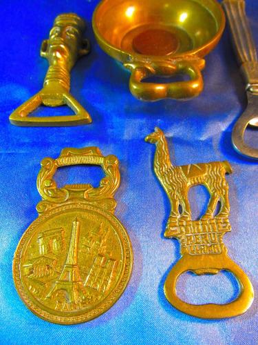 el arcon lote de 5 destapadores de coleccion de bronce 40062