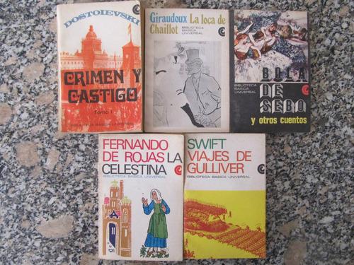 el arcon lote de 5 libros - dostoievski - giraudoux