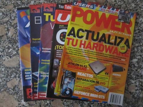 el arcon lote de 5 revistas de computación power users