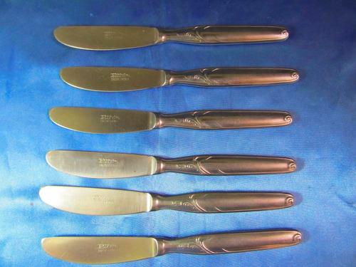 el arcon lote de 6 cuchillos de postre acero inox 30064