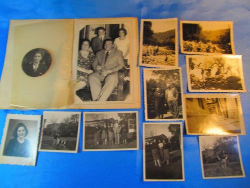 el arcon lote de 9 fotos familiares año 1950 15035