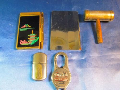 el arcon lote de articulos llavero cigarrera salero 41083