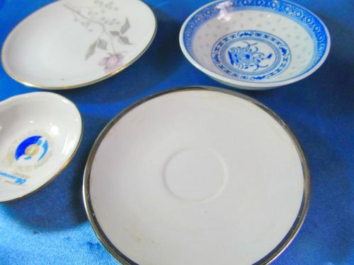 el arcon lote de cuatro (4) platos miniatura porcelana 11057
