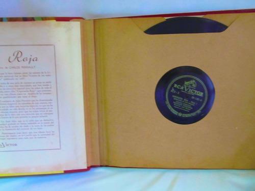 el arcon lp pasta caperucita roja album con 6 discos