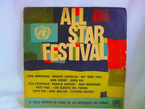 el arcon lp vinilo all star festival varios armstrong fitzge